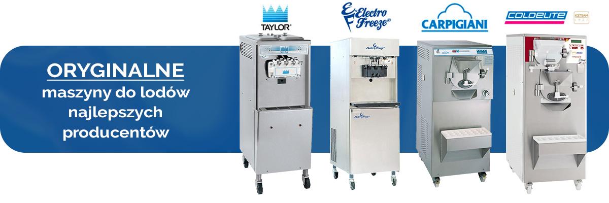 Oryginalne maszyny do lodów najlepszych producentów - baner